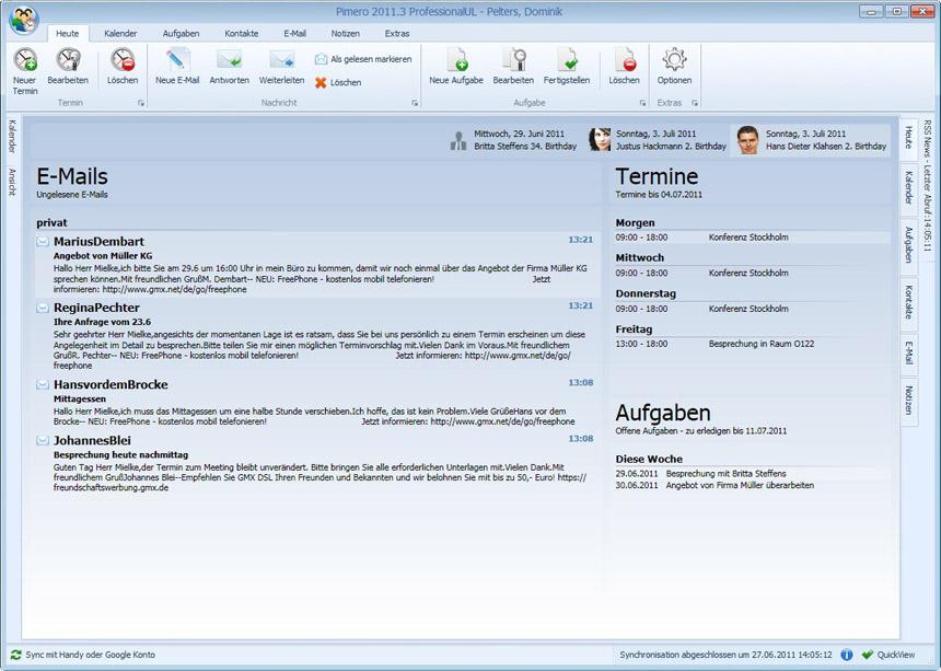 Outlook Alternative Pimero
